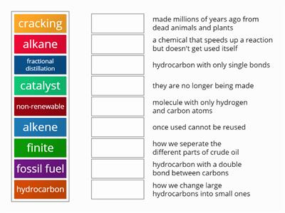 hydrocarbons match up