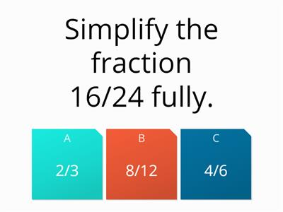 Using fractions quiz (all)