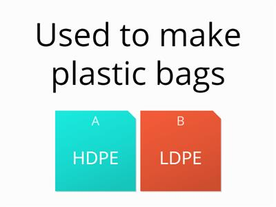 HDPE LDPE True or False RH