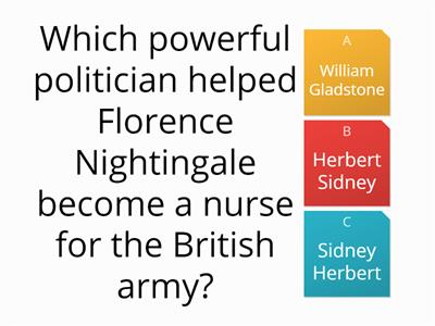 Nightingale and Seacole quiz
