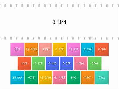 Equivalent fractions and mixed numbers