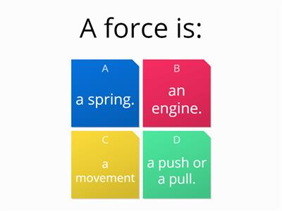 forces quick quiz