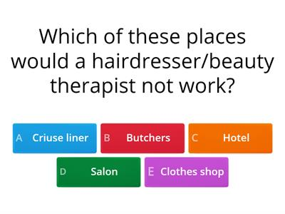 Introduction to the hair and beauty sector quiz