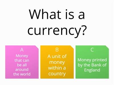 8 - Exchanging Currencies - Quiz