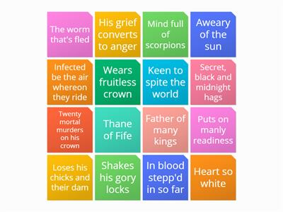 Macbeth character clues