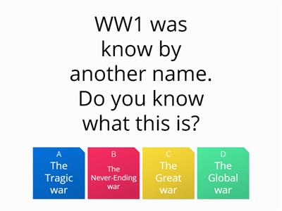 world war 1 quiz