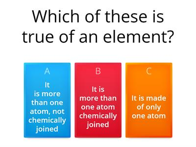 Elements, Metals Quiz