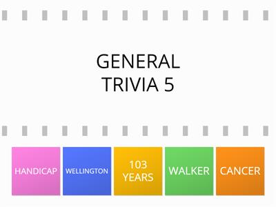 GENERAL TRIVIA ANSWERS