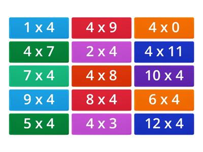 4 times tables