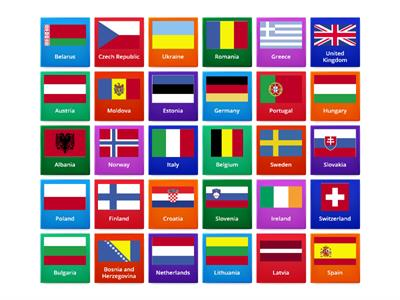 european flags and capitals