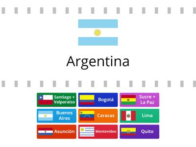 south american flags and capitals