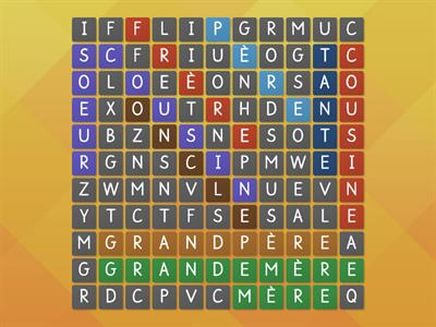 famille vocab wordsearch