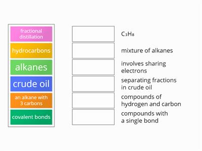 Alkanes Match-Up1