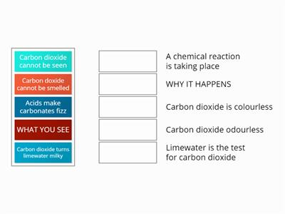 Carbon dioxide match up