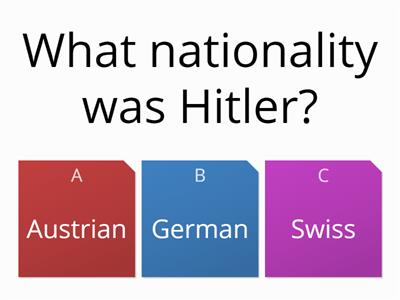 The rise of Hitler quiz