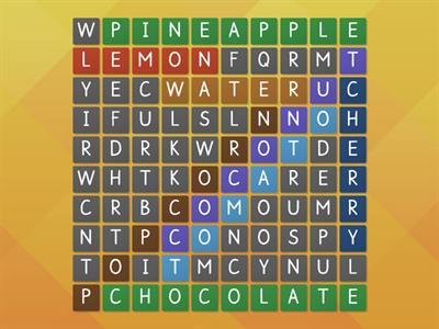 wordsearch food