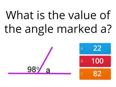 Angles of a straight line