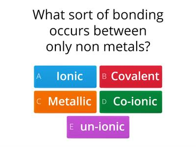 structure and bonding quiz