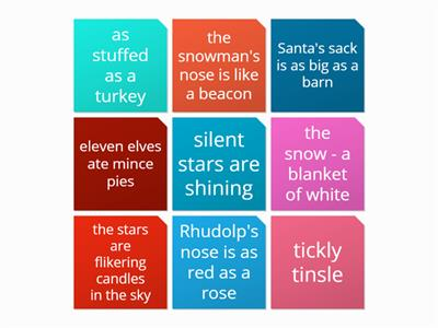 christmas poetry techinques game - yr 7