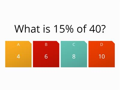 percentage review quiz
