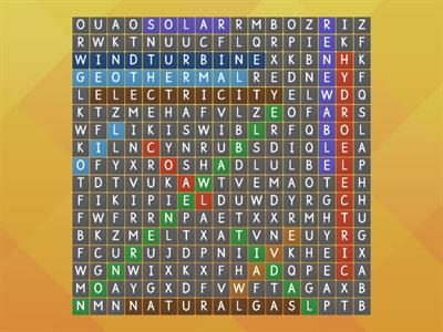 renewable or non-renewable energy resources wordsearch