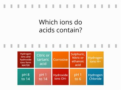 general acid alkali questions