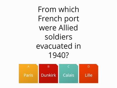 Turning Points of the war- quiz