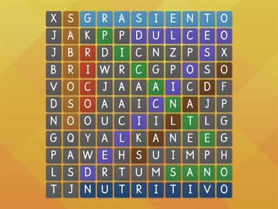Wordsearch - 9 adjectives