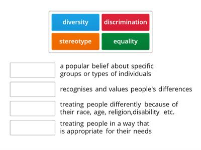 equality and diversity word match