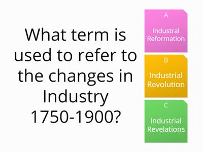 Industrial Revolution Quiz