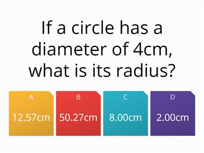 Mixed quiz - circles and types of number.