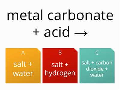 carbonates and acids