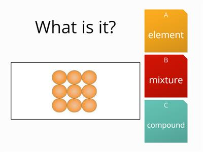 element and compound simple quiz