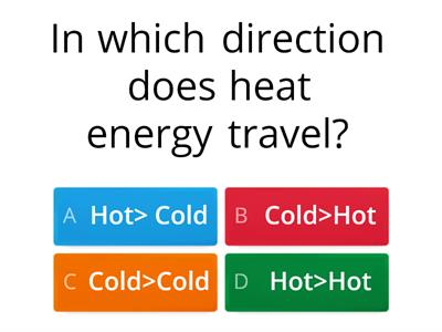 Heating + Cooling Word Wall Quiz
