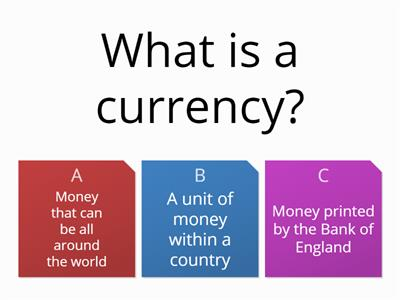 Topic 8 using money abroad