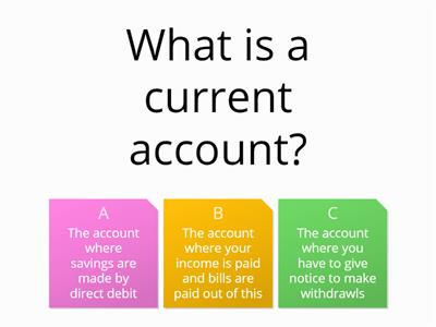 starter questions on bank accounts