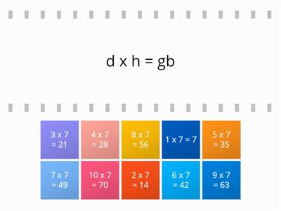 times table puzzle