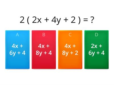Algebra - Expanding single brackets - Foundation