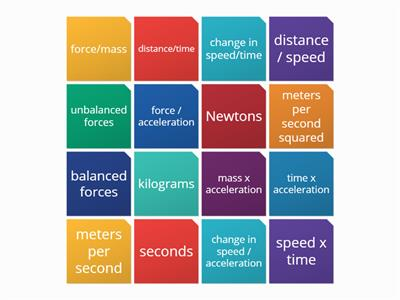 Y11 speed and acceleration equations