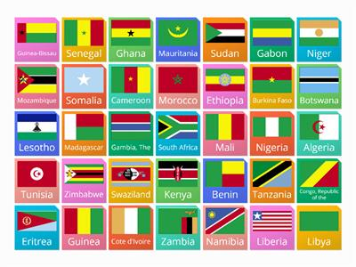 african flags and capitals