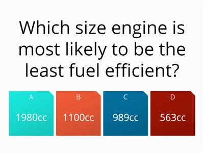 fuel consumtion quiz