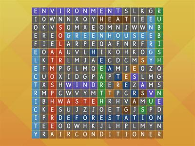 Environment wordsearch