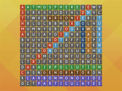 Wordsearch for air quility