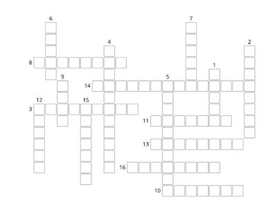 Unit 1, 4, 9 Crossword