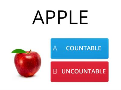 COUNTABLE AND UNCOUNTABLE NOUNS test