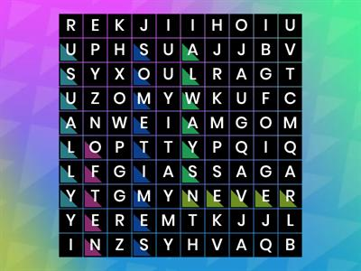 ADVERBS OF FREQUENCY - WORDSEARCH