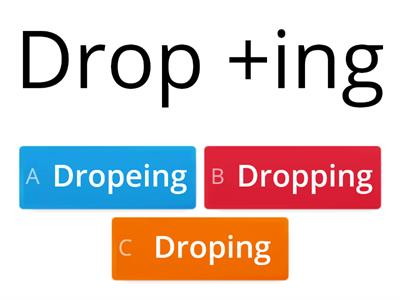 Double, drop or not - adding a vowel ending