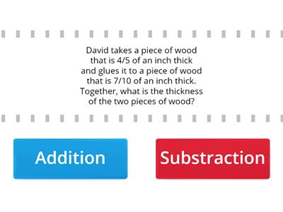 Distinguishing  addition and subtraction word problems
