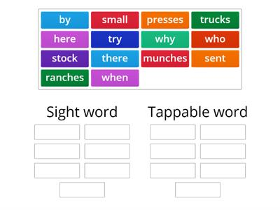 2.2 sight word sort