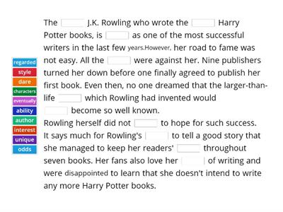 Famous Authors, Famous Characters - Great Success: J.K. Rowling
